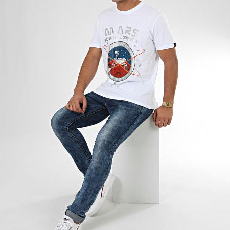 Alpha Industries - Tee Shirt Mission To Mars 126531 Blanc Argenté