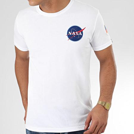Alpha Industries - Tee Shirt Space Shuttle 176507 Blanc