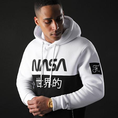 Final Club x NASA - Sweat Capuche Japan Exploration Avec Patch 337 Noir Blanc