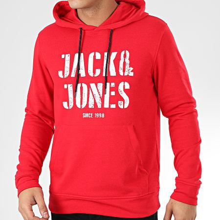 Jack And Jones - Sweat Capuche Jay Rouge