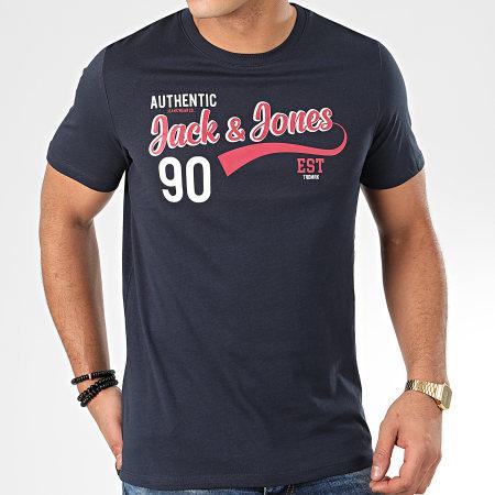 Jack And Jones - Tee Shirt Logo Bleu Marine