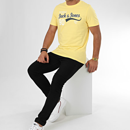 Jack And Jones - Tee Shirt Logo Jaune