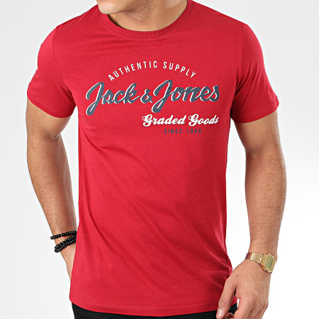 Jack And Jones - Tee Shirt Logo Rouge