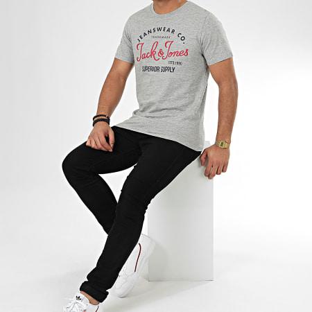 Jack And Jones - Tee Shirt Logo Gris Chiné