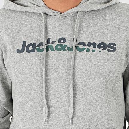 Jack And Jones - Sweat Capuche Manthol Gris Chiné