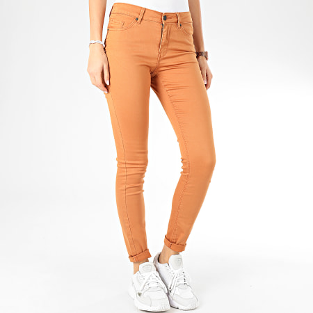 Vero Moda - Jean Slim Femme Hot Seven Camel