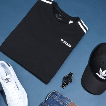 adidas - Tee Shirt A Bandes Essential 3 Stripes DQ3113 Noir