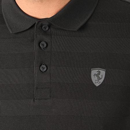 Puma - Polo Manches Courtes Ferrari Striped 596123 Noir