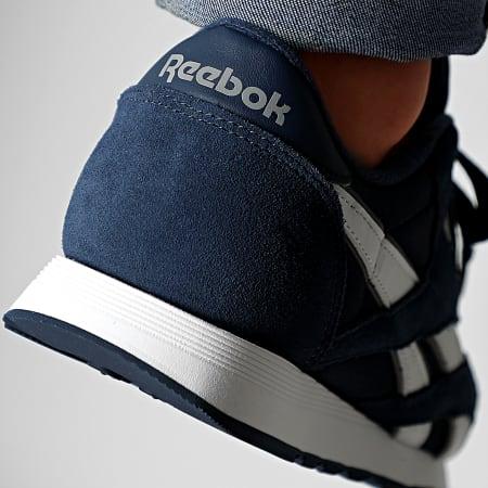 Reebok - Baskets Classic Leather Nylon FV1595 Navy Platinum