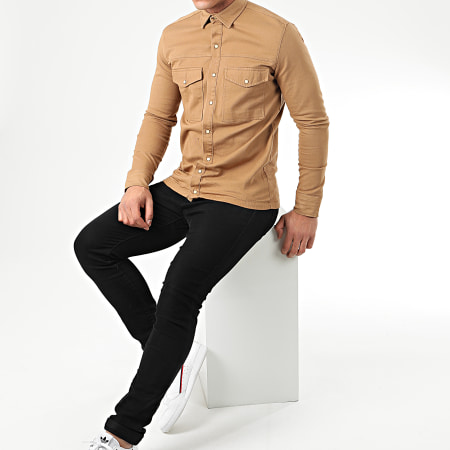 Uniplay - Chemise Jean Manches Longues 182 Camel