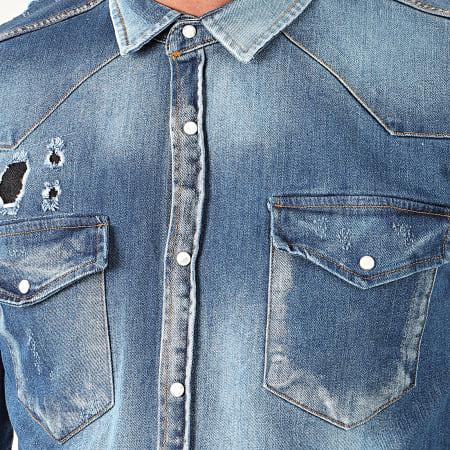 Uniplay - Chemise Jean Manches Longues 119 Bleu Denim