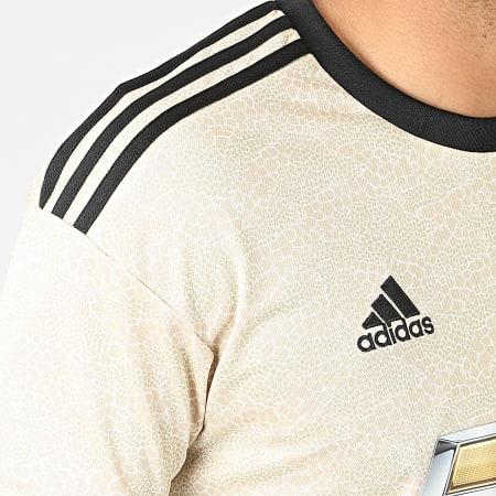 adidas - Tee Shirt Manchester United A Bandes ED7388 Beige Noir