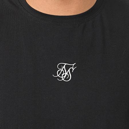 SikSilk - Lot de 2 Débardeurs Lounge Vest 15585 Noir Gris Chiné