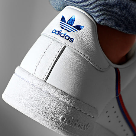 adidas - Baskets Continental 80 Strap EE5577 Cloud White Royal Scarlet