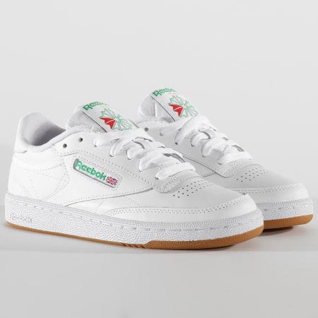 Reebok - Baskets Femme Club C 85 CM9925 White Green Gum