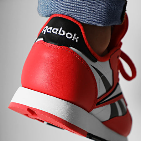 Reebok - Baskets Classic Leather MU EG6422 Black Radiant Red White