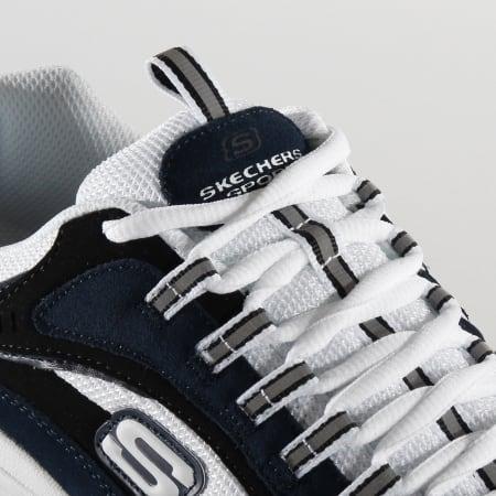 Skechers Baskets Stamina Cutback 51286 Bleu Marine Blanc