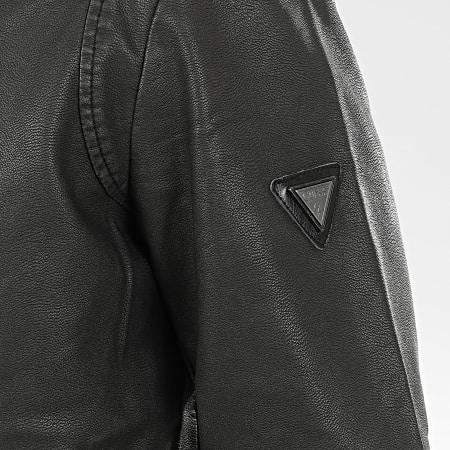 Guess - Veste Zippée Capuche M01L54-WCIJ0 Noir