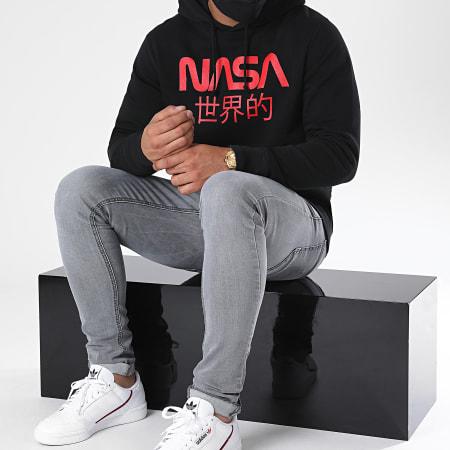 NASA - Sweat Capuche Japan Logo Noir Rouge
