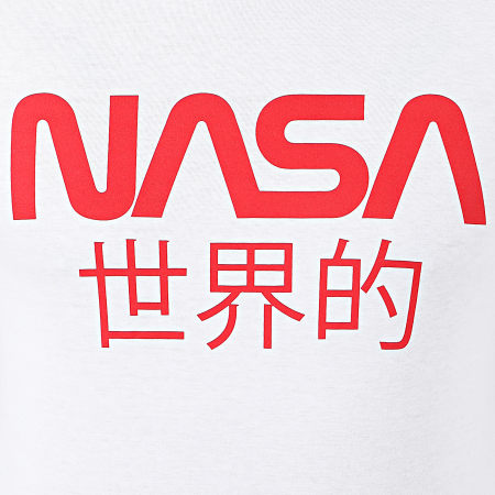 NASA - Tee Shirt Japan Logo Blanc Rouge