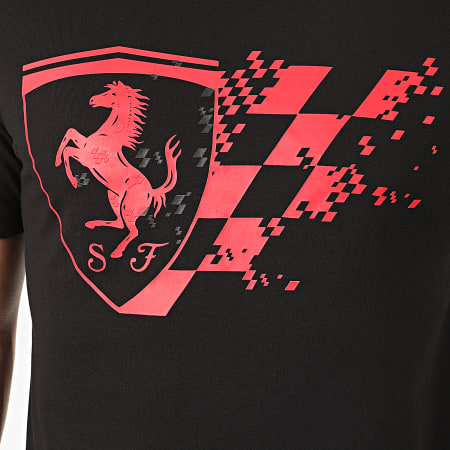 Puma - Tee Shirt Scuderia Ferrari Big Shield 596153 Noir Rouge
