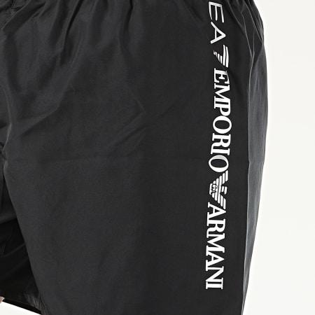 EA7 - Short De Bain 902035-CC720 Noir Argenté