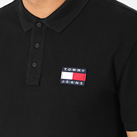 Tommy Jeans - Polo Manches Courtes Tommy Badge 7456 Noir
