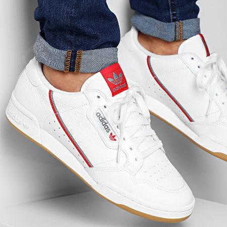 adidas - Baskets Continental 80 FV0356 Footwear White Grey ...