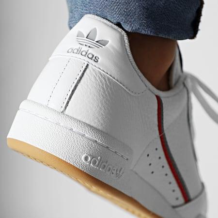 adidas - Baskets Continental 80 FV0356 Footwear White Grey Three Scarlet