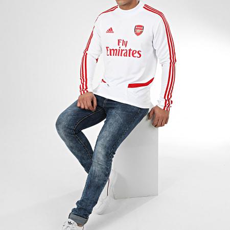 adidas - Tee Shirt Manches Longues A Bandes Arsenal FC EJ6283 Blanc