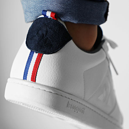 Le Coq Sportif - Baskets Courtclassic Denim Optical White Dress Blue