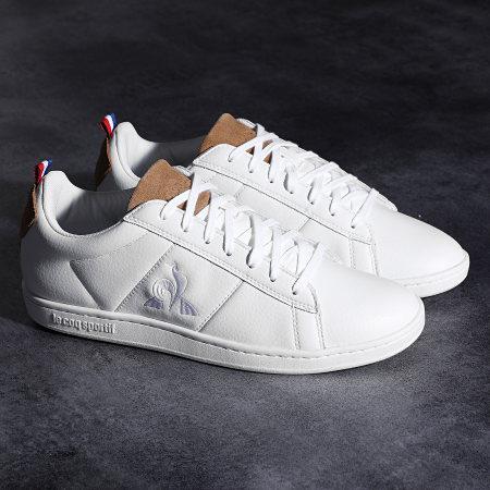 Le Coq Sportif - Baskets Courtclassic Printemps Optical White Tan