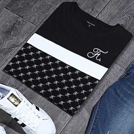Final Club - Tee Shirt Allover Tricolore Avec Broderie 335 Blanc Noir