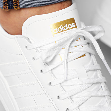 adidas - Baskets Team Court EF6049 Footwear White Gold