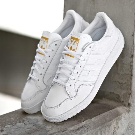 adidas - Baskets Team Court EF6049 Footwear White Gold