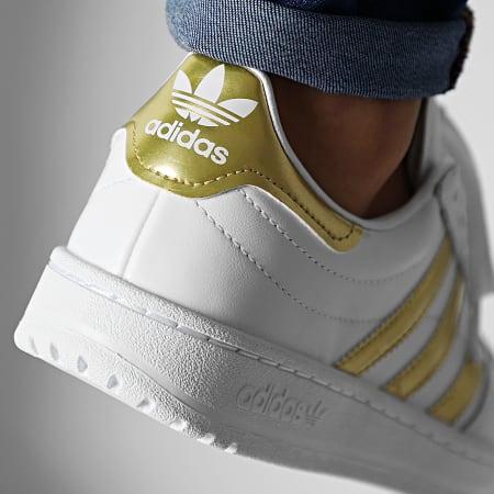 adidas - Baskets Team Court EF6058 Footwear White Gold Metallic