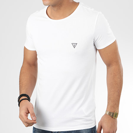 Guess - Tee Shirt U97M00-JR003 Blanc