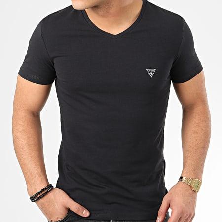 Guess - Tee Shirt Col V U97M01-JR003 Noir