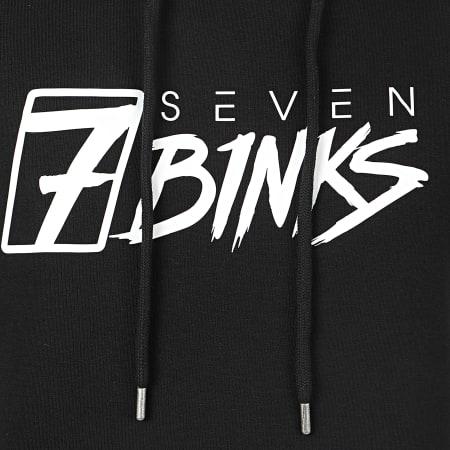 7 Binks - Sweat Capuche Vignette Noir