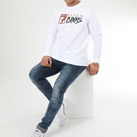 7 Binks - Tee Shirt Manches Longues Vignette Blanc