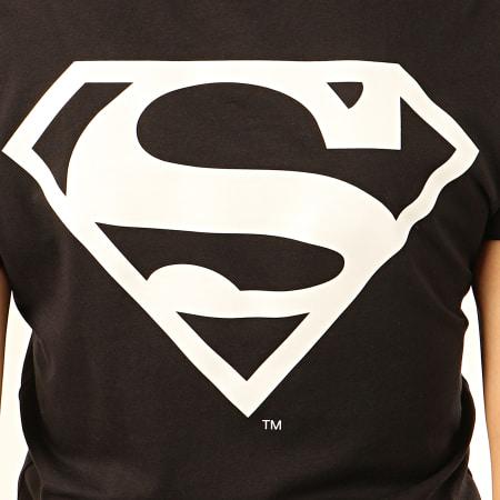 Superman - Tee Shirt Femme Back Logo Noir