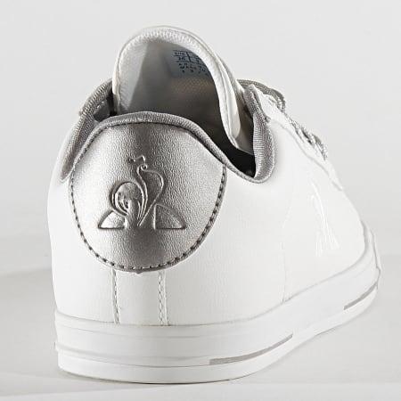 Le Coq Sportif - Baskets Femme Agate Metallic 2010237 Optical White Old Silver