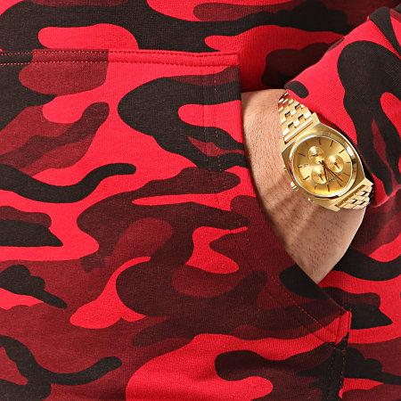 LBO - Sweat Capuche Raglan 958 Camouflage Rouge
