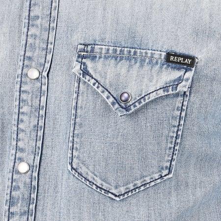 Replay - Chemise Manches Longues En Jean M4023 Bleu Denim