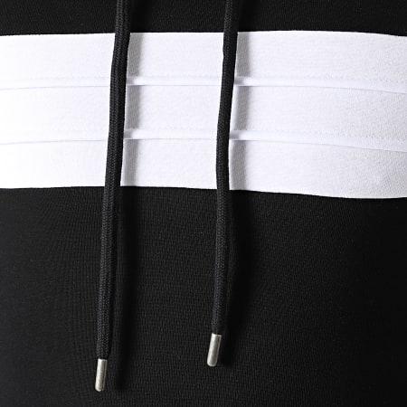 LBO - Ensemble Survetement Avec Empiècement 1057 Noir Blanc