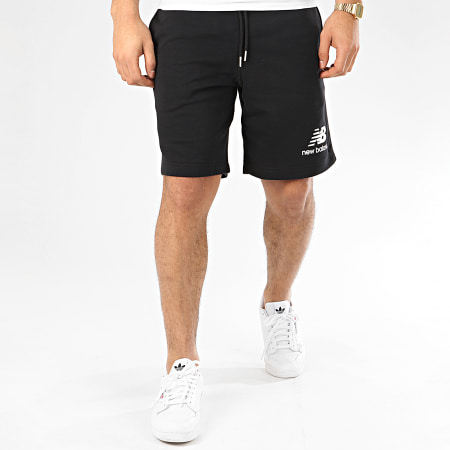New Balance - Short Jogging Essential Stacked Logo MS91584 Noir