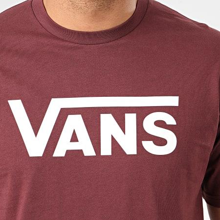 Vans - Tee Shirt Vans Classic Bordeaux Foncé