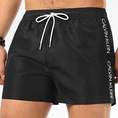 Calvin Klein - Short De Bain A Bandes Drawstring 0457 Noir