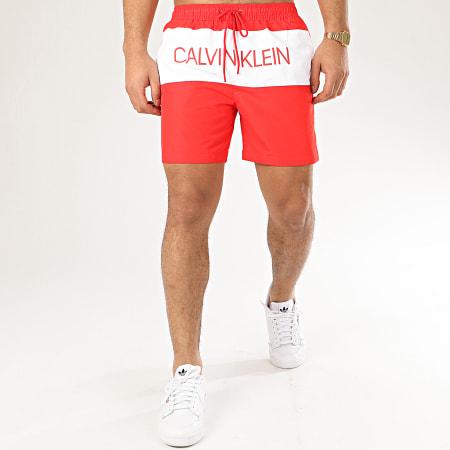 Calvin Klein - Short De Bain Medium Drawstring 0456 Rouge