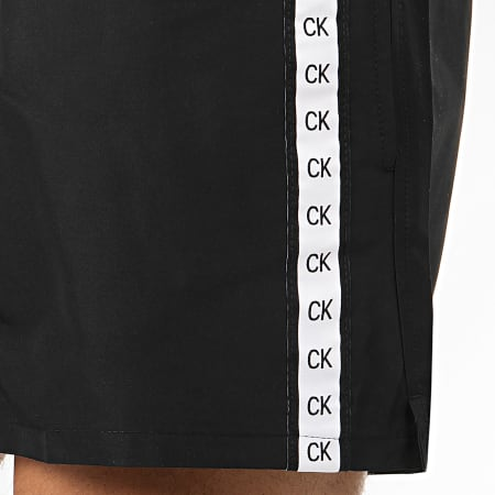 Calvin Klein - Short De Bain A Bandes Drawstring 0451 Noir